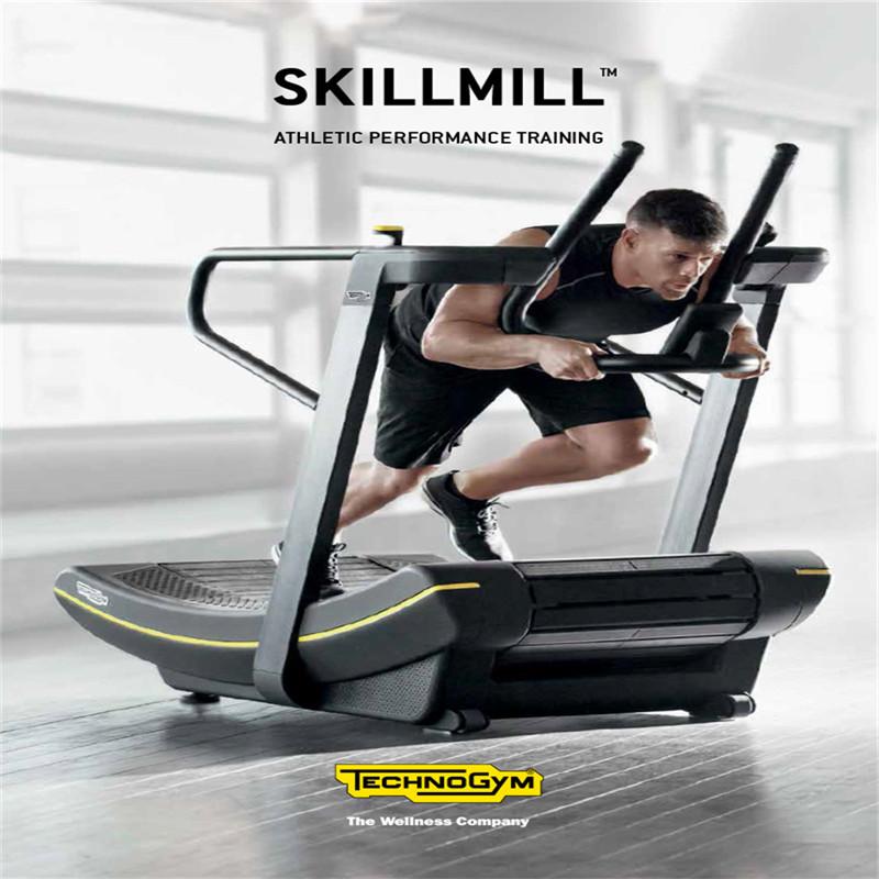 Technogym泰诺健skillmill磁控阻力原装进口商用无动力跑步机